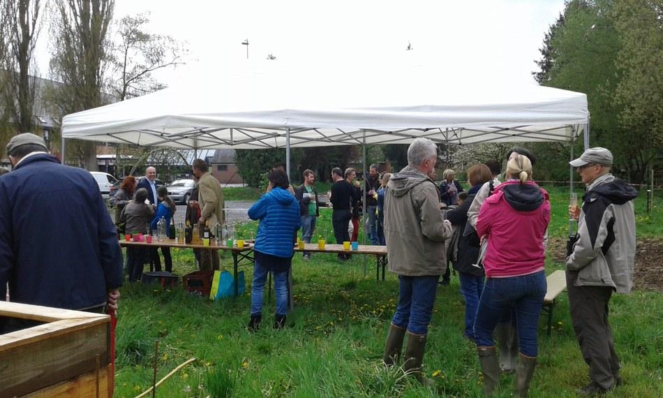 Inauguration du jardin des insectes de Fallais